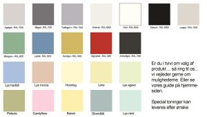 regler for farvekoder til vinduer EF Tønderhus